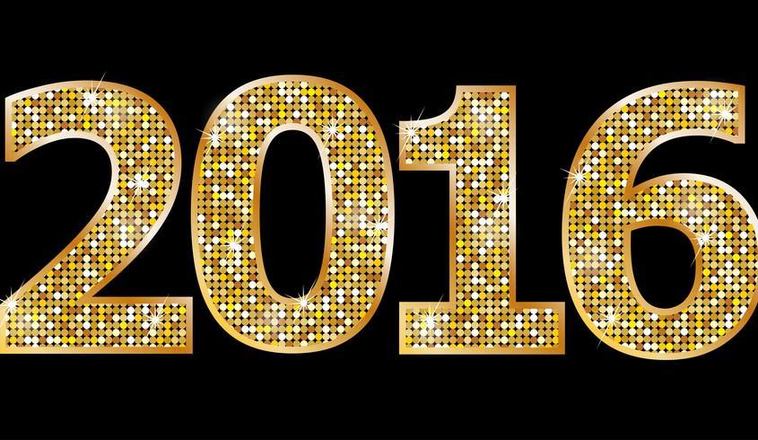 2016 Gold Glitter